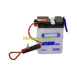 Bateria moto Exide 6N2-2A 6 V. 2Ah